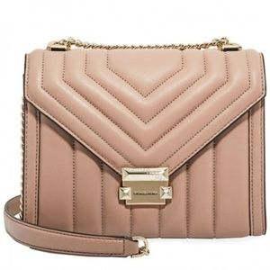 Michael Kors Fawn Quilted Leather Whitney Chain